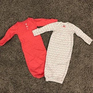 2 sleeper gowns for baby girls